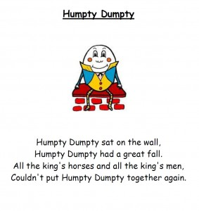 Sample Junior Infant English Rhyme for September